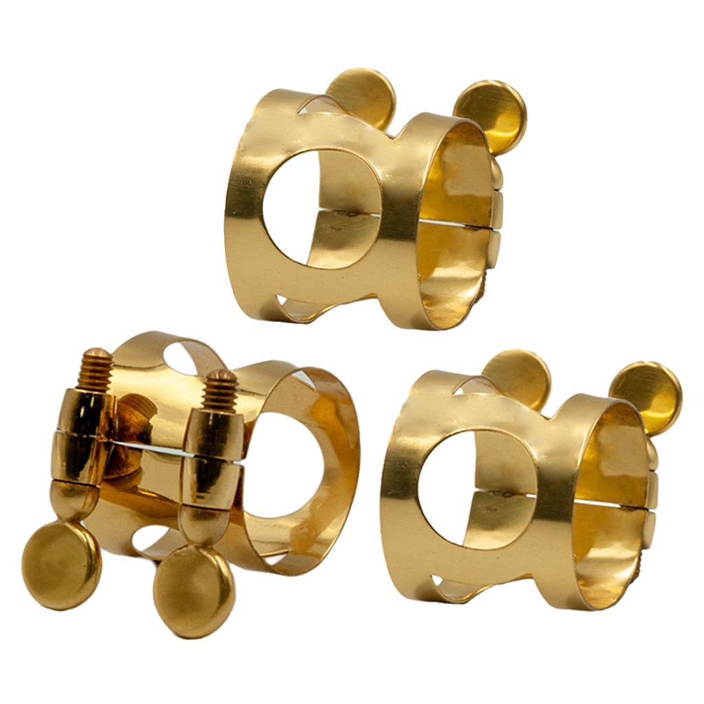 Metal-Soprano-Alto-Tenor-Saxophone-Ligature-Clip-for-Sax-Replacement-Parts thumbnail 3
