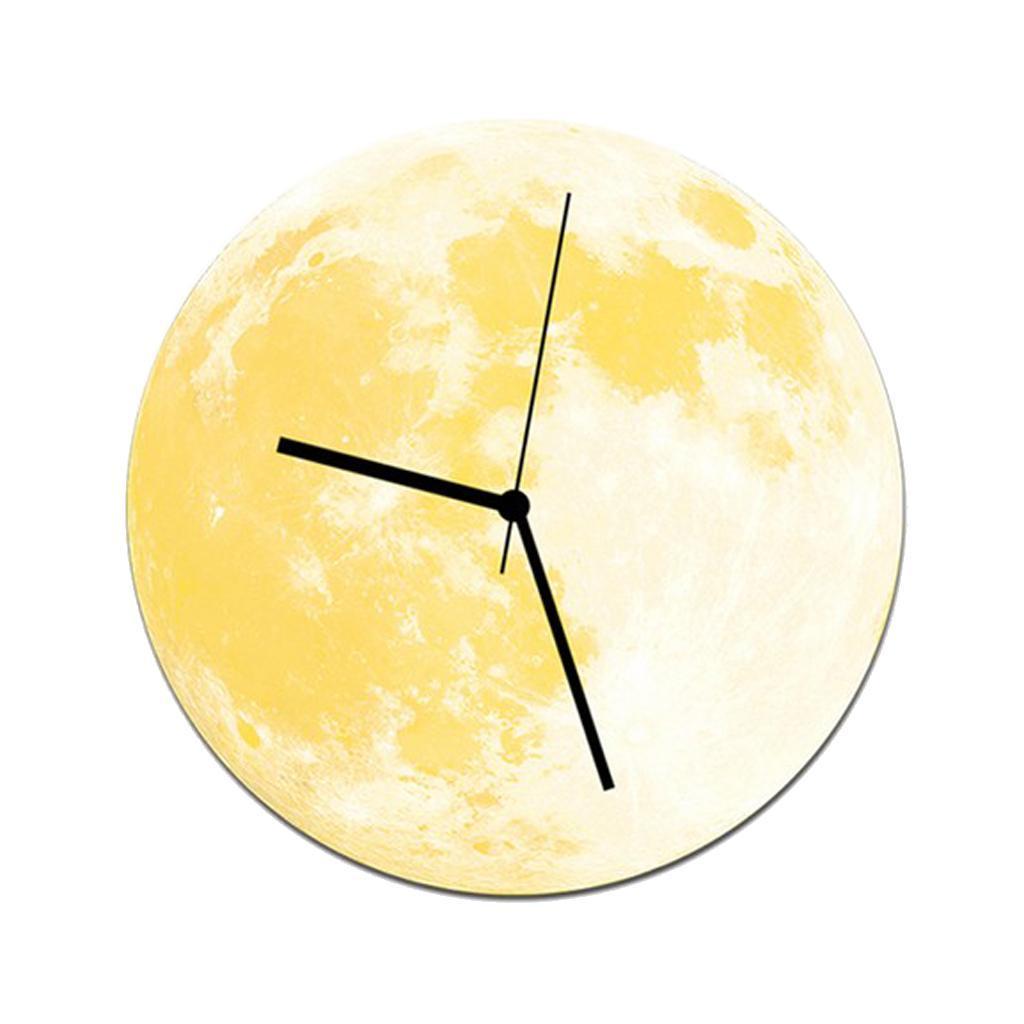 Indoor-Decorative-Wall-Clock-12inch-Luminous-Moon-Battery-Operated-Silent thumbnail 15