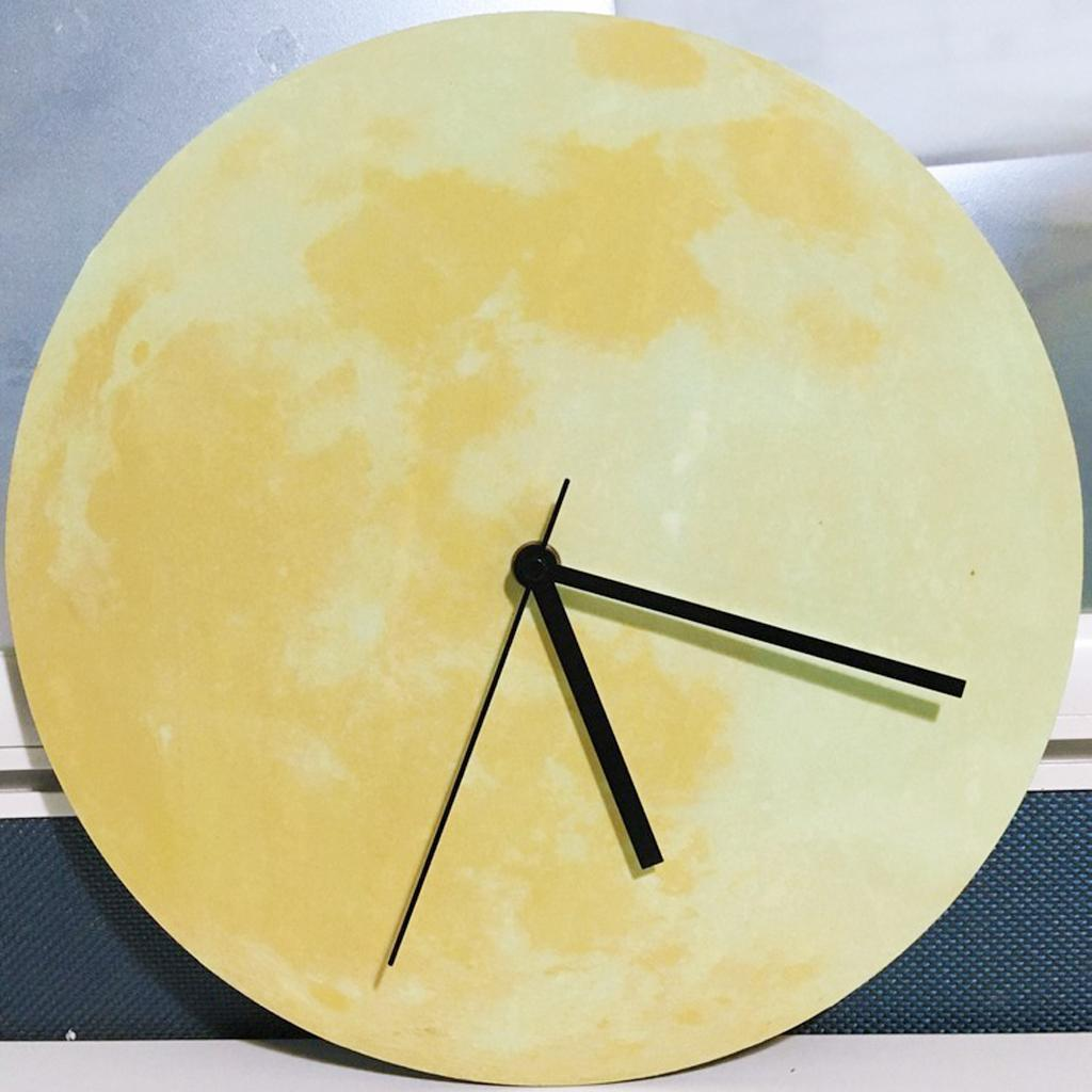 Indoor-Decorative-Wall-Clock-12inch-Luminous-Moon-Battery-Operated-Silent thumbnail 11