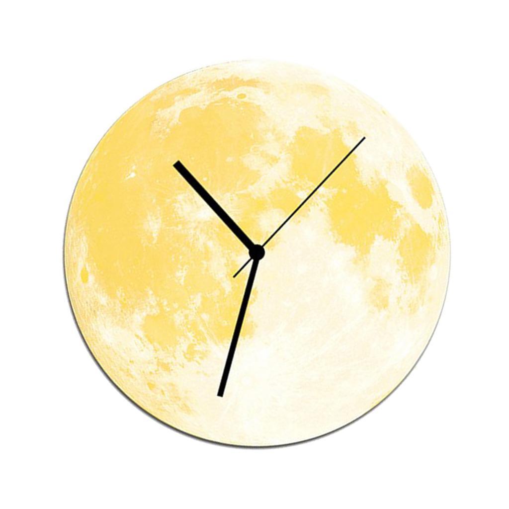 Indoor-Decorative-Wall-Clock-12inch-Luminous-Moon-Battery-Operated-Silent thumbnail 13