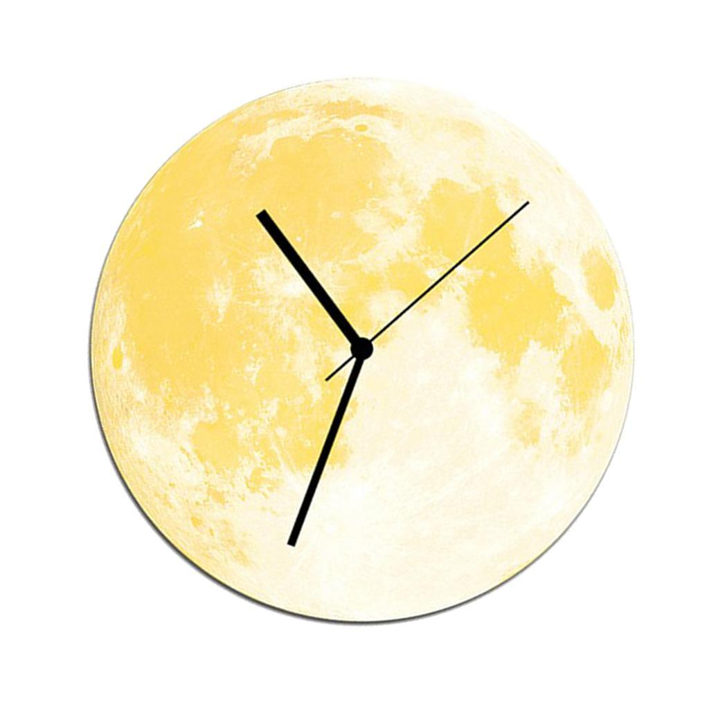 Indoor-Decorative-Wall-Clock-12inch-Luminous-Moon-Battery-Operated-Silent thumbnail 14
