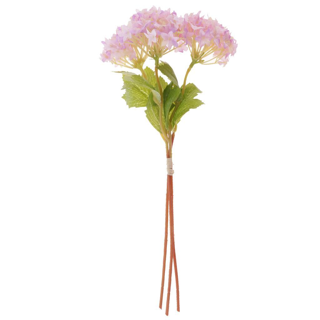 Mini-Bouquet-Artificiel-Faux-Soie-Hortensia-Fleurs-Mariage-Anniversaire miniature 23