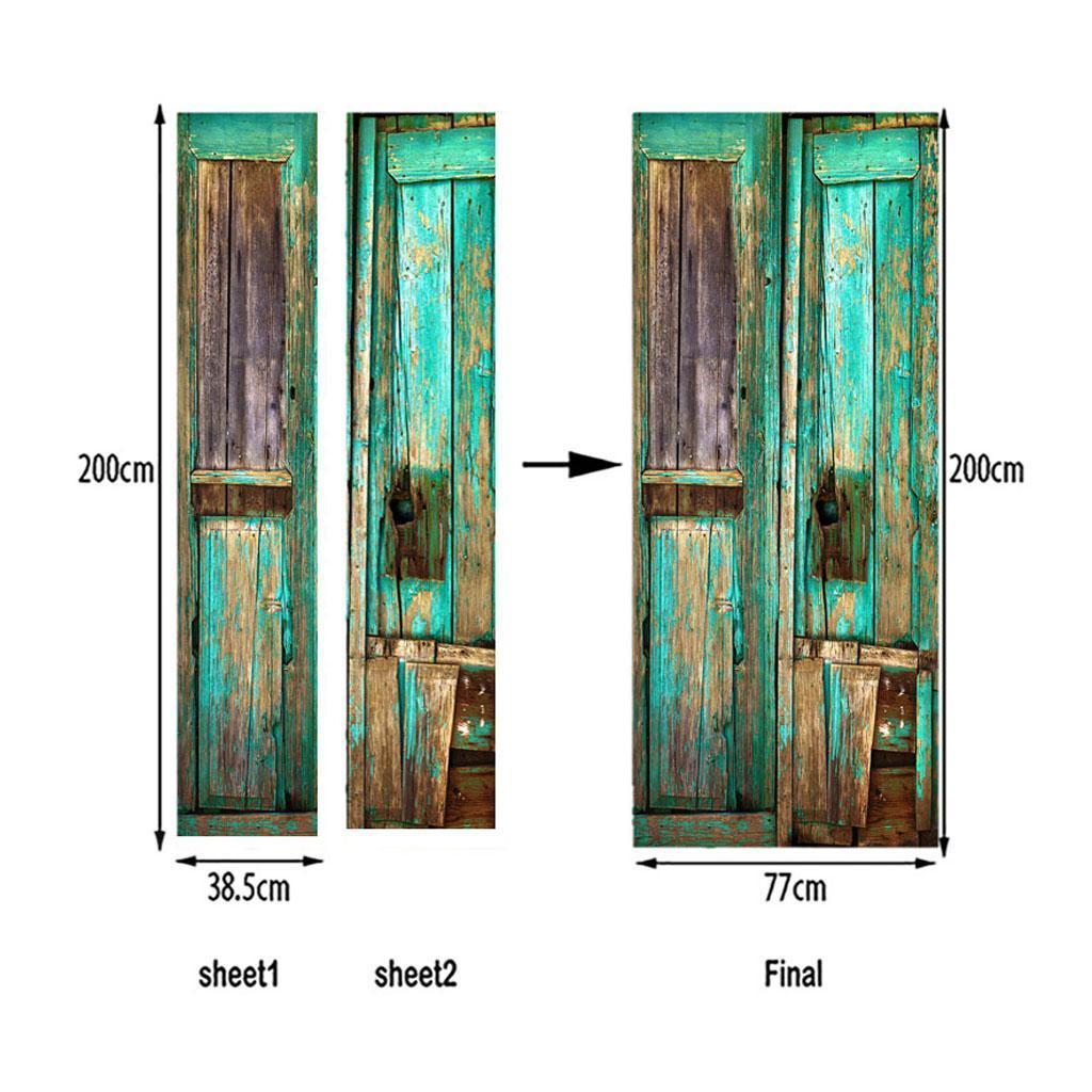 thumbnail 22 - 3D Self Adhesive Door Sticker DIY Decor Poster for Home Room Decor