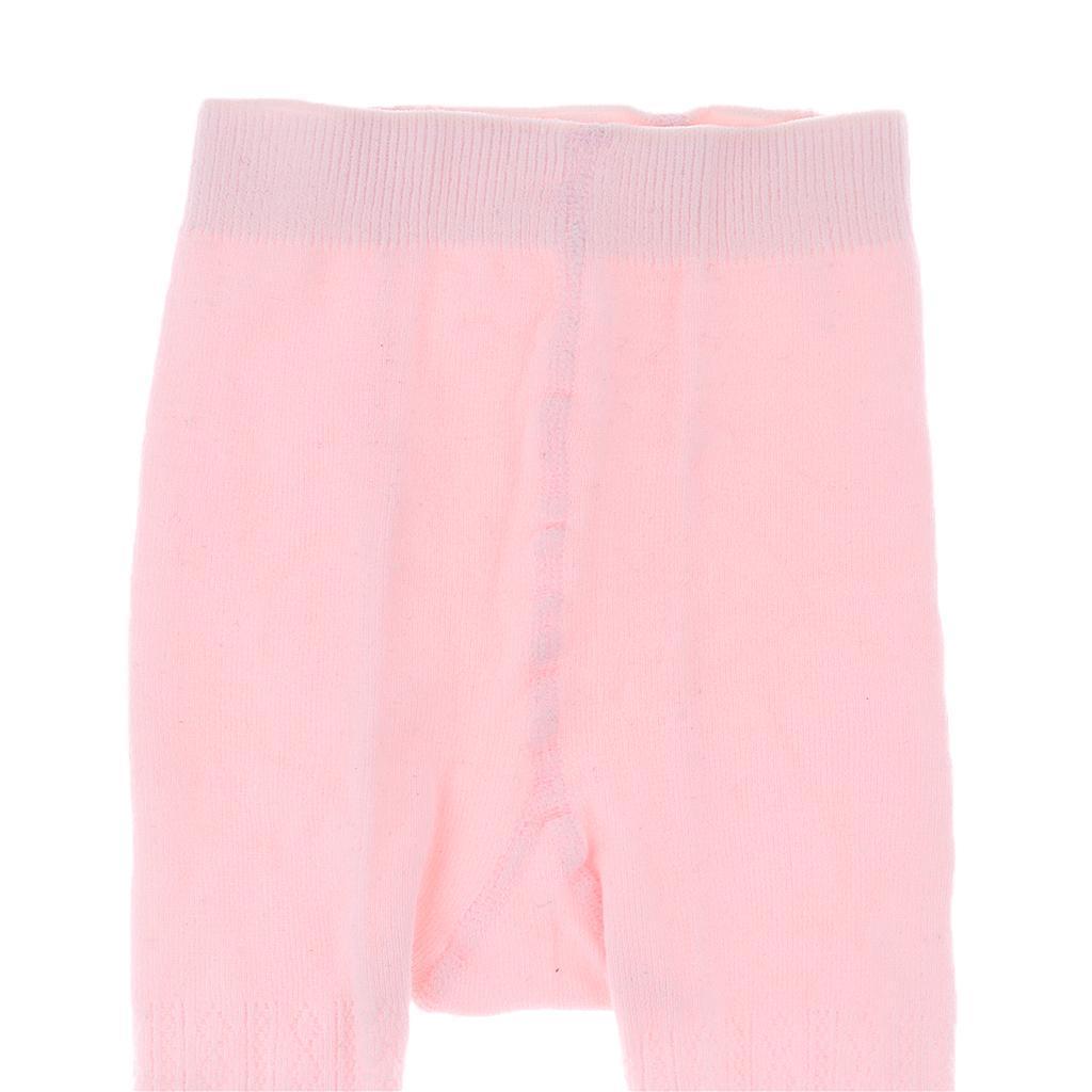 Collants-Bebe-Filles-Hiver-Coton-Tricote-Losange-Elastique-Antiderapant miniature 25