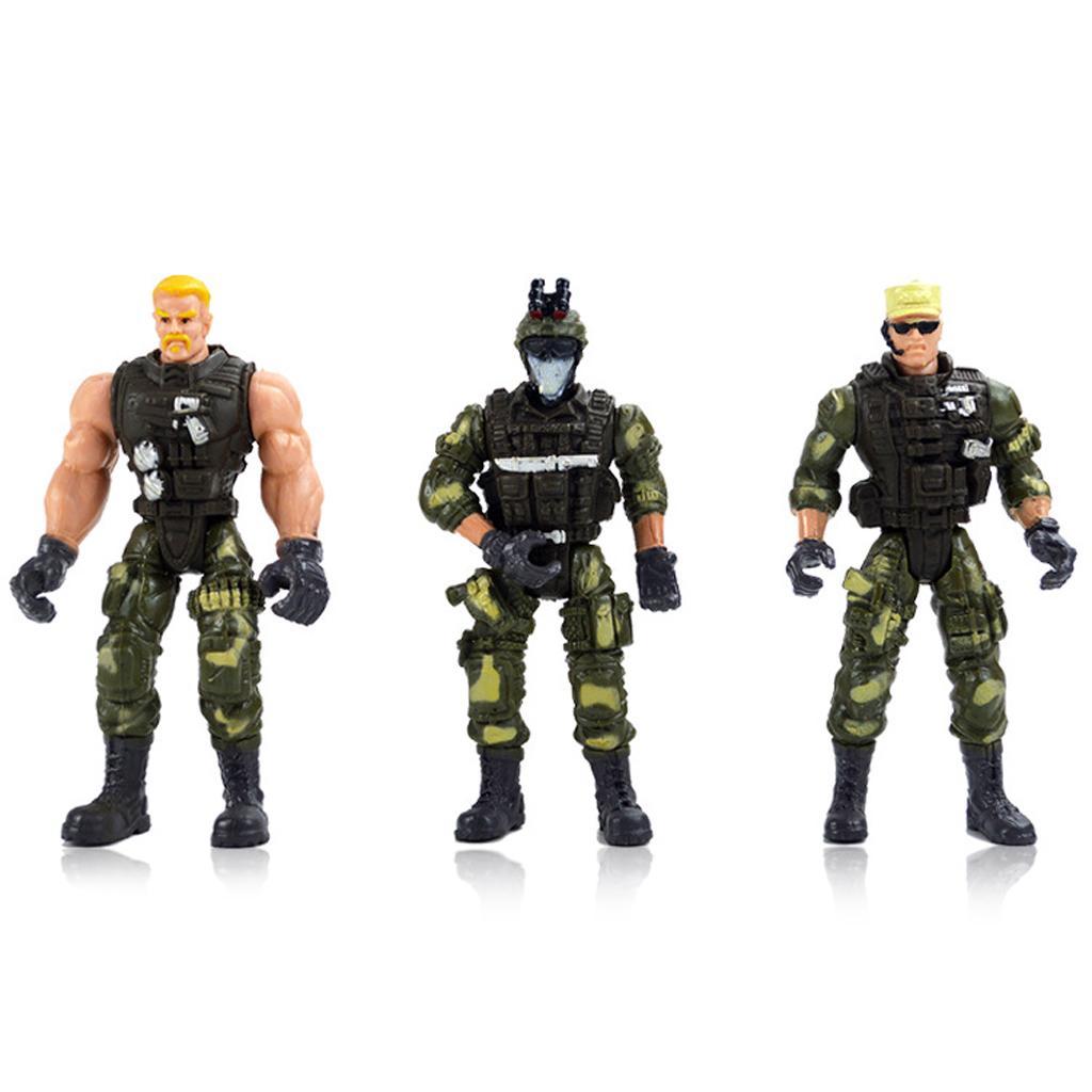 5-11cm Military Figure Plastic Soldier Police Model Combat DIY Creative Game Toy