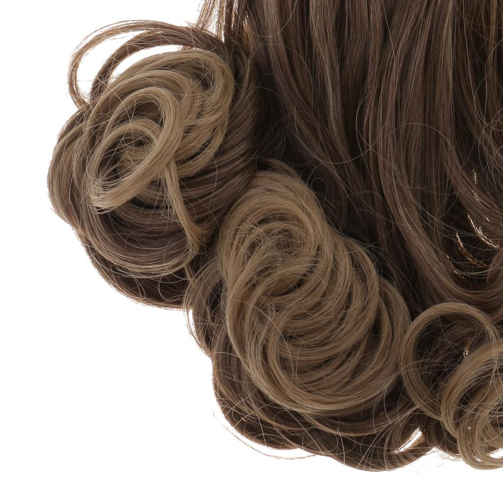 Straight-Gradient-Curly-Hair-Wig-for-18-039-039-Doll-Dress-up-Accessory thumbnail 86