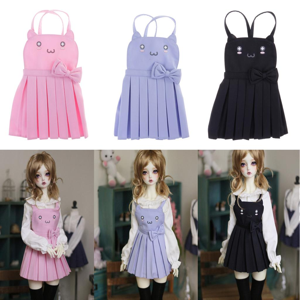 1//3 BJD 3 Colors Dress Clothes for Dollfie MSD  DOD DZ AD Doll Kid Role Play