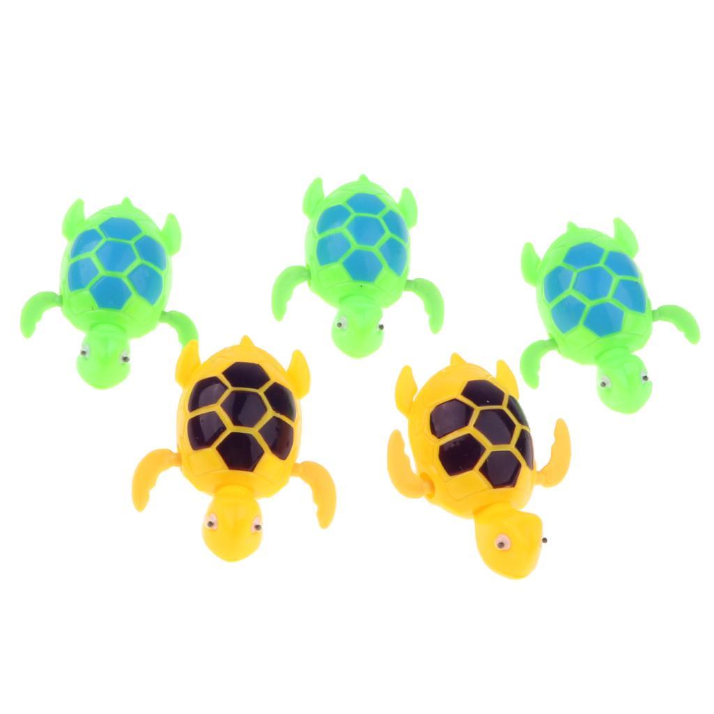 5pcs Wind Up Tail Swing Swimming Fish Kids Bath Water Pool Toy Clockwork Animals
