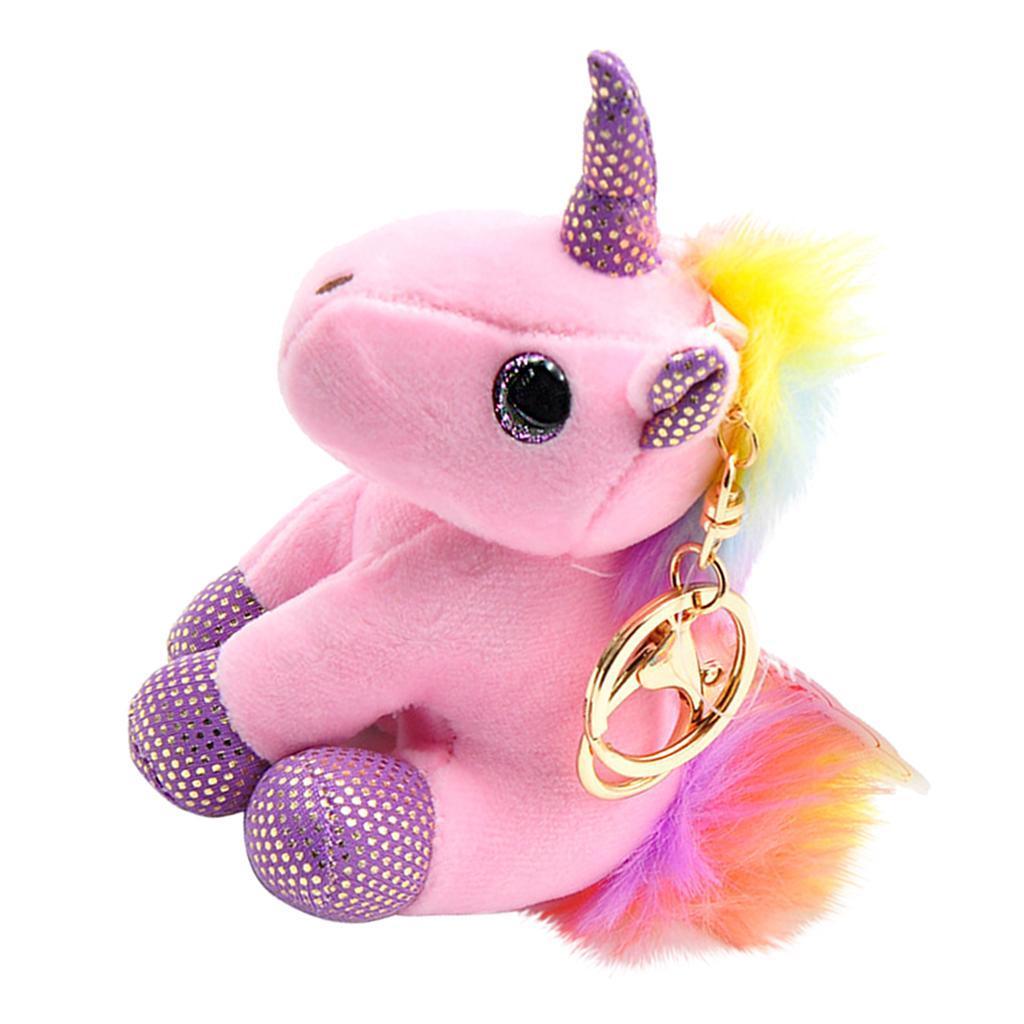 Rainbow Color Tail Plush Unicorn Toy Stuffed Mini Animal ...