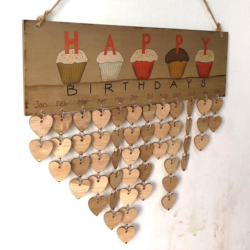 Familie Tree Geburtstag Kalender Holz Kalender Datum Holz Farbe 50 Tag