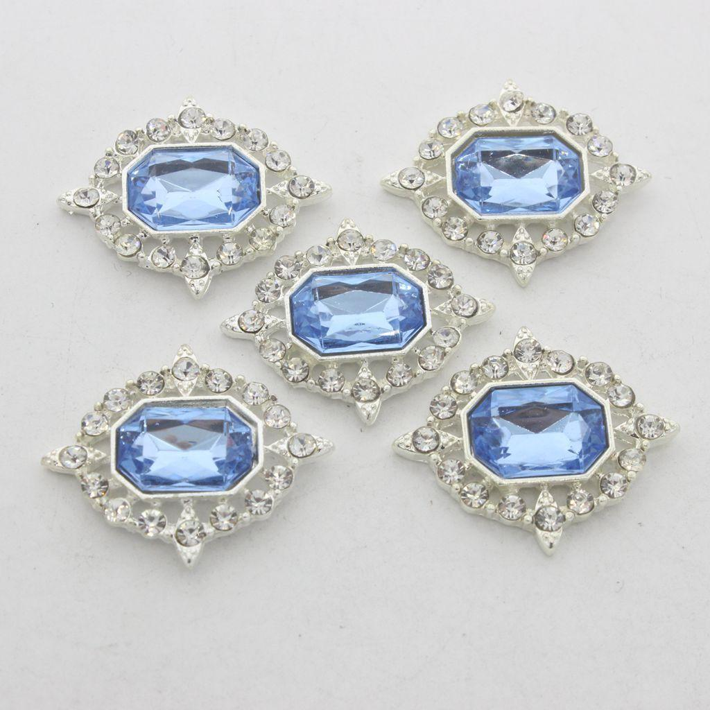 5-Pieces-Acrylique-plat-soutenu-Strass-Cabochons-Bijoux-Decoration miniature 13