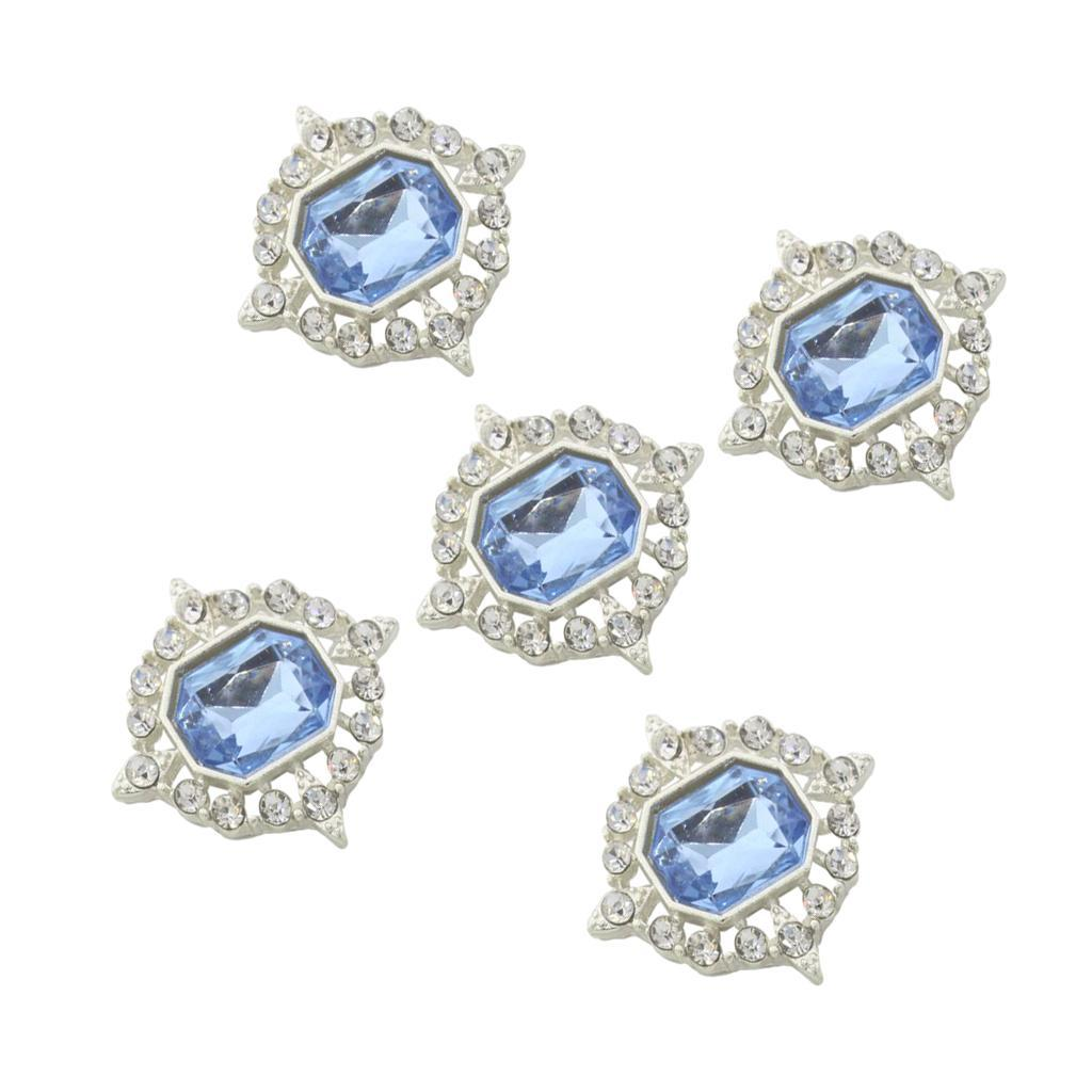 5-Pieces-Acrylique-plat-soutenu-Strass-Cabochons-Bijoux-Decoration miniature 14