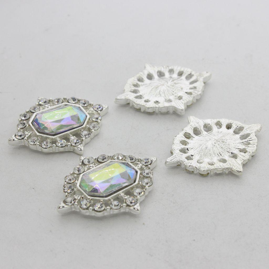 5-Pieces-Acrylique-plat-soutenu-Strass-Cabochons-Bijoux-Decoration miniature 29