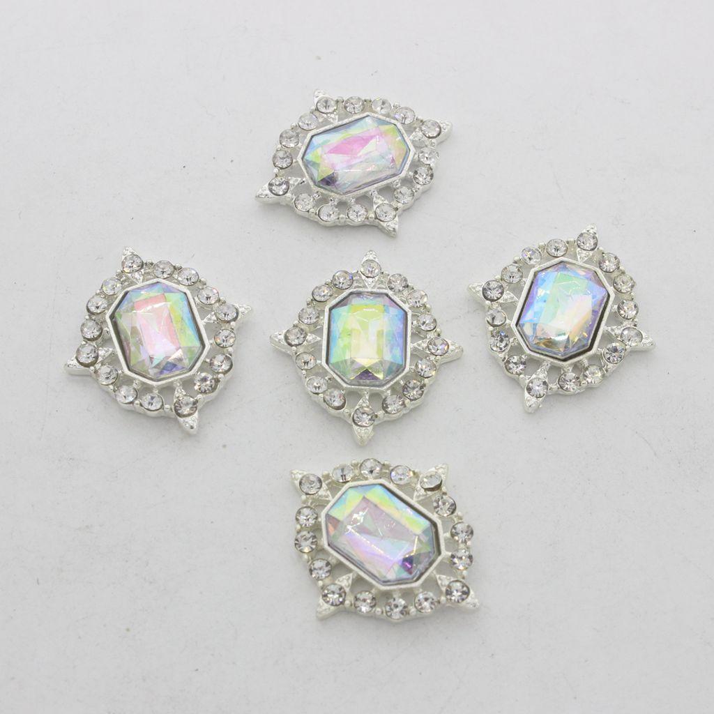 5-Pieces-Acrylique-plat-soutenu-Strass-Cabochons-Bijoux-Decoration miniature 30