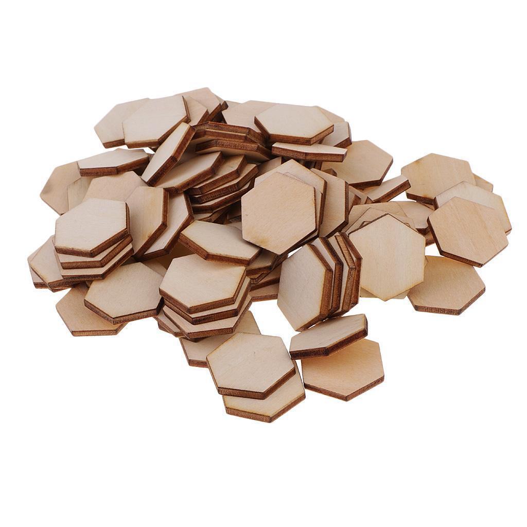 Indexbild 18 - 50-100-200-Stueck-Charming-Hexagon-Shaped-MDF-Holz-Schnitt-Holz
