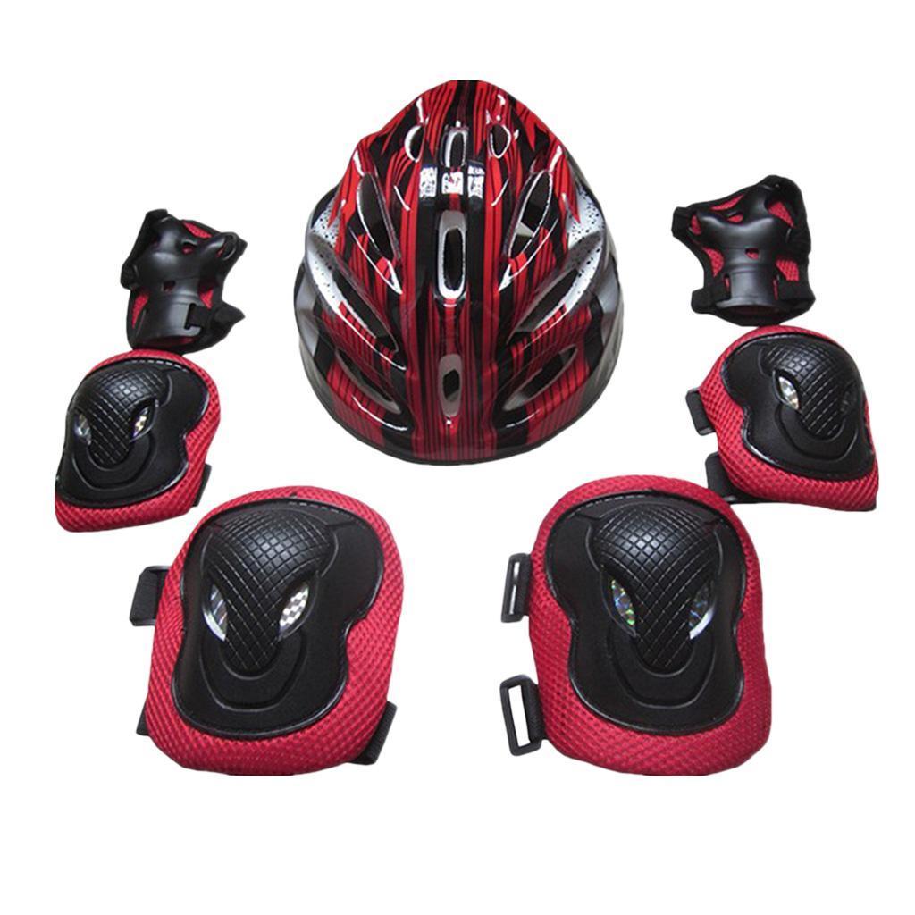 Lovoski-Skating-Protection-Kit-Helmet-Knee-Elbow-Pads-Hand-Safety-Guard-Gear thumbnail 9