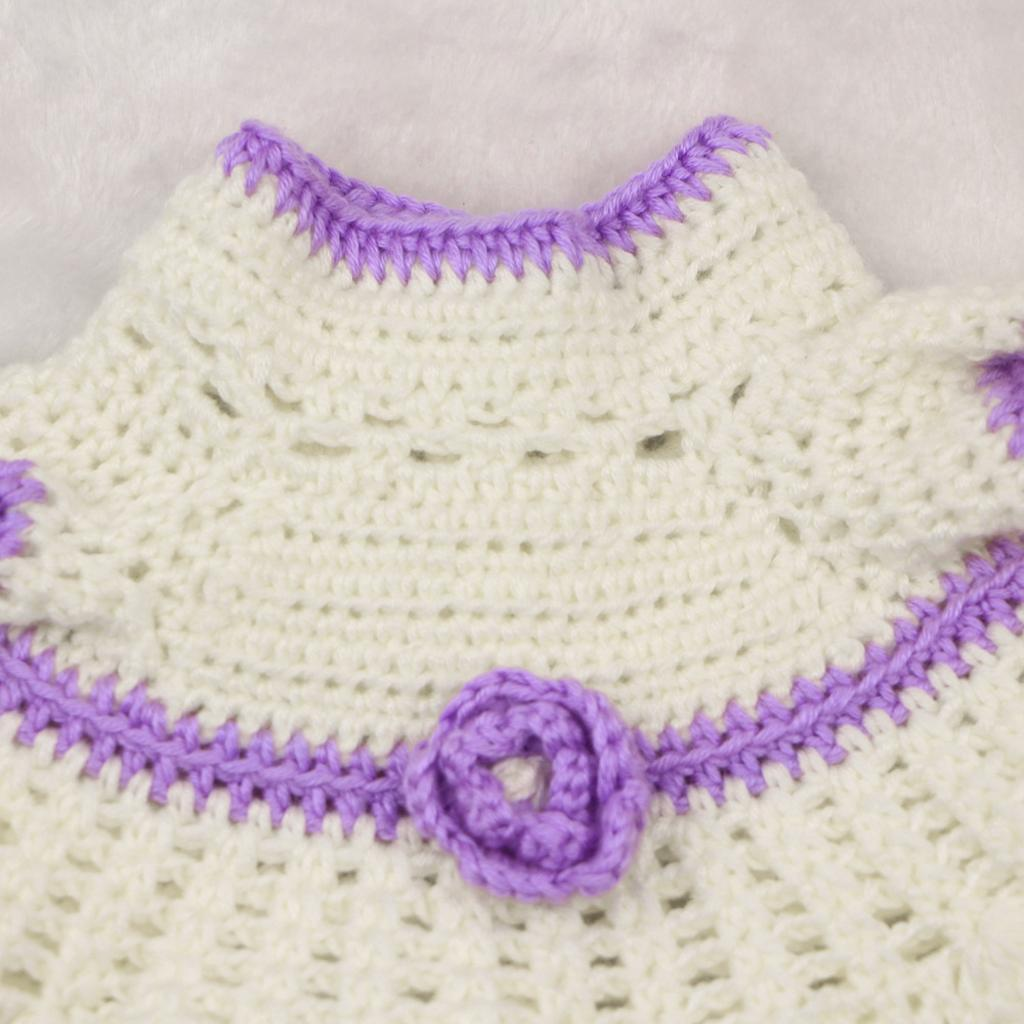 Handknitted-Dress-Socks-Set-for-17-18inch-Reborn-Baby-Girl-Toy-Doll-Clothes miniature 7
