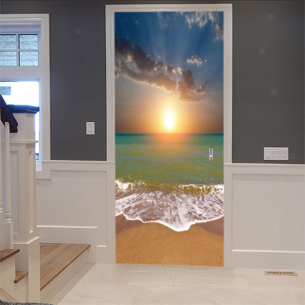 thumbnail 47 - 3D Self Adhesive Door Sticker DIY Decor Poster for Home Room Decor