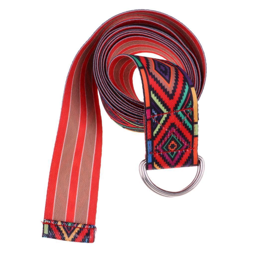 miniatura 6 - Anillo D yoga Stretch cinturón 72 Inch funda resistente fitness desodorantes