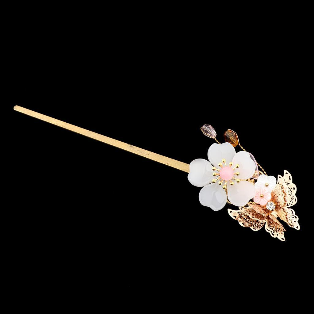 Retro-Floral-Flower-Bead-Hair-Stick-Hairpin-Ancient-Chinese-Japanese-Chignon thumbnail 6