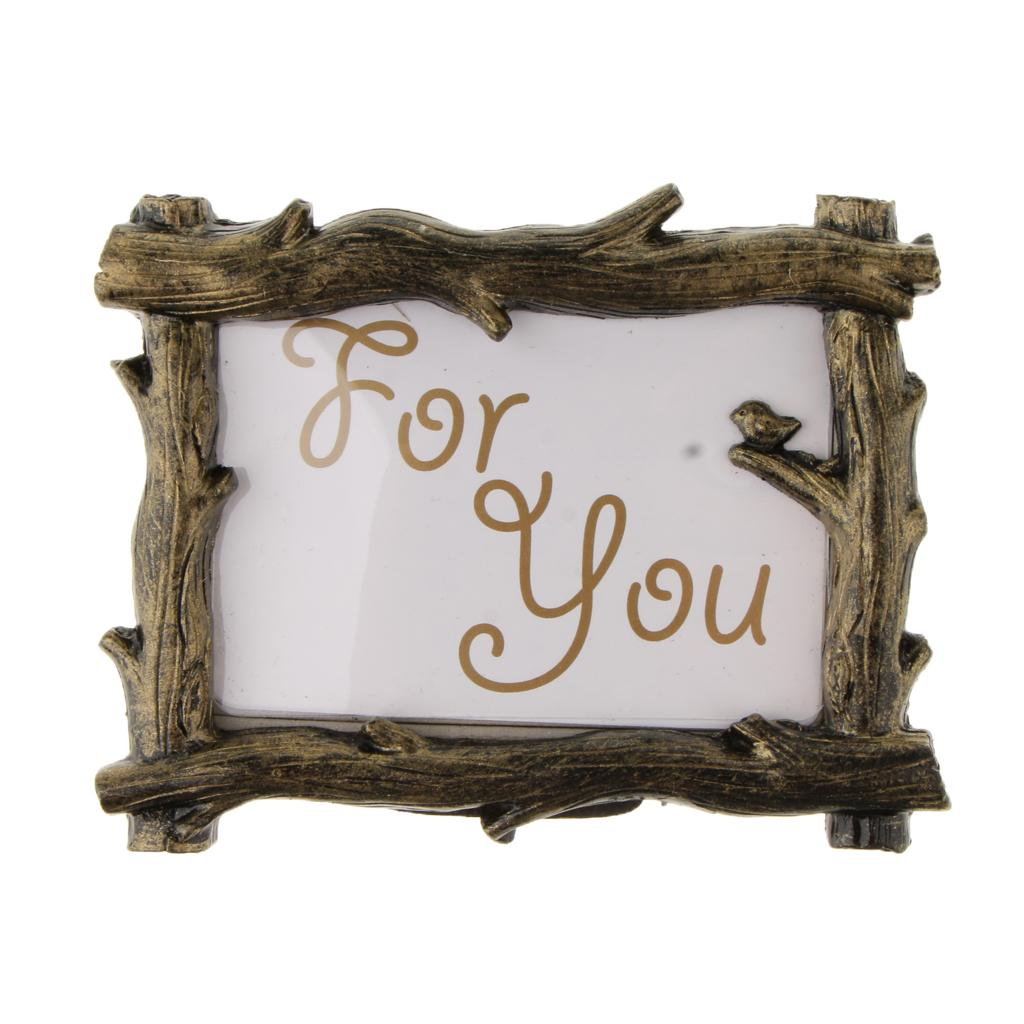 Vintage Picture Frame For Photo Memo Name Table Place Number Card Holder In Wedding Party