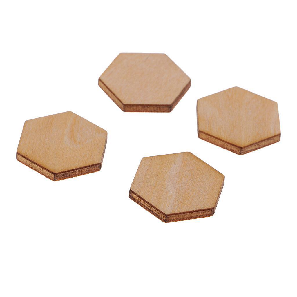 Indexbild 20 - 50-100-200-Stueck-Charming-Hexagon-Shaped-MDF-Holz-Schnitt-Holz