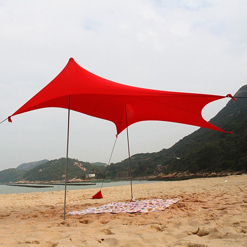 more photos 6256b d0e0a Details about Outdoor Waterproof Tent Camp Shelter Sun Shade Picnic Hiking  Beach Tarp