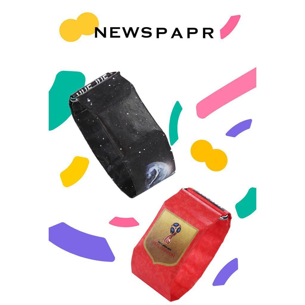 Newspaper-White-LED-Digital-Watch-Mens-Women-Waterproof-Strap-Paper-Sport miniature 67