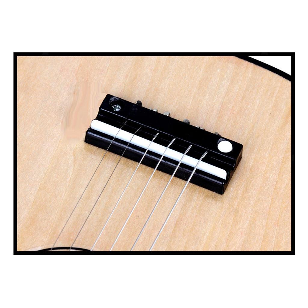 Legno-massello-lucido-21-pollici-6-String-chitarra-MINI-CHITARRA-ACUSTICA-giocattoli-Set miniatura 6