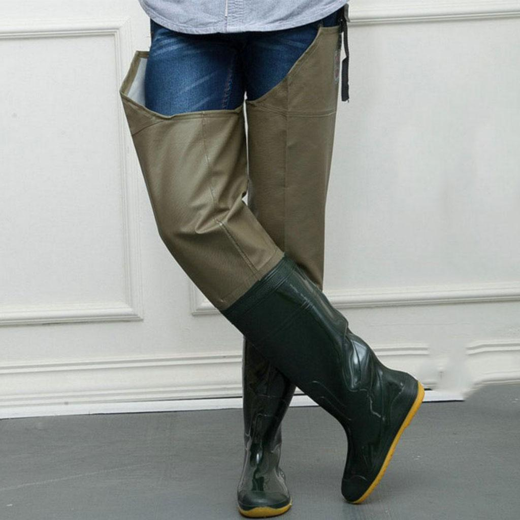 3c911f039b2 Details about lightweight rubber stocking foot hip waders hunting fishing  wading pant boot jpg 1024x1024 Thigh