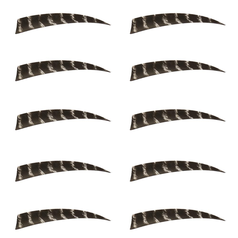10Pcs 5 inch Drop Shield Right-wing Feather Arrow Fletching Archery Hunting