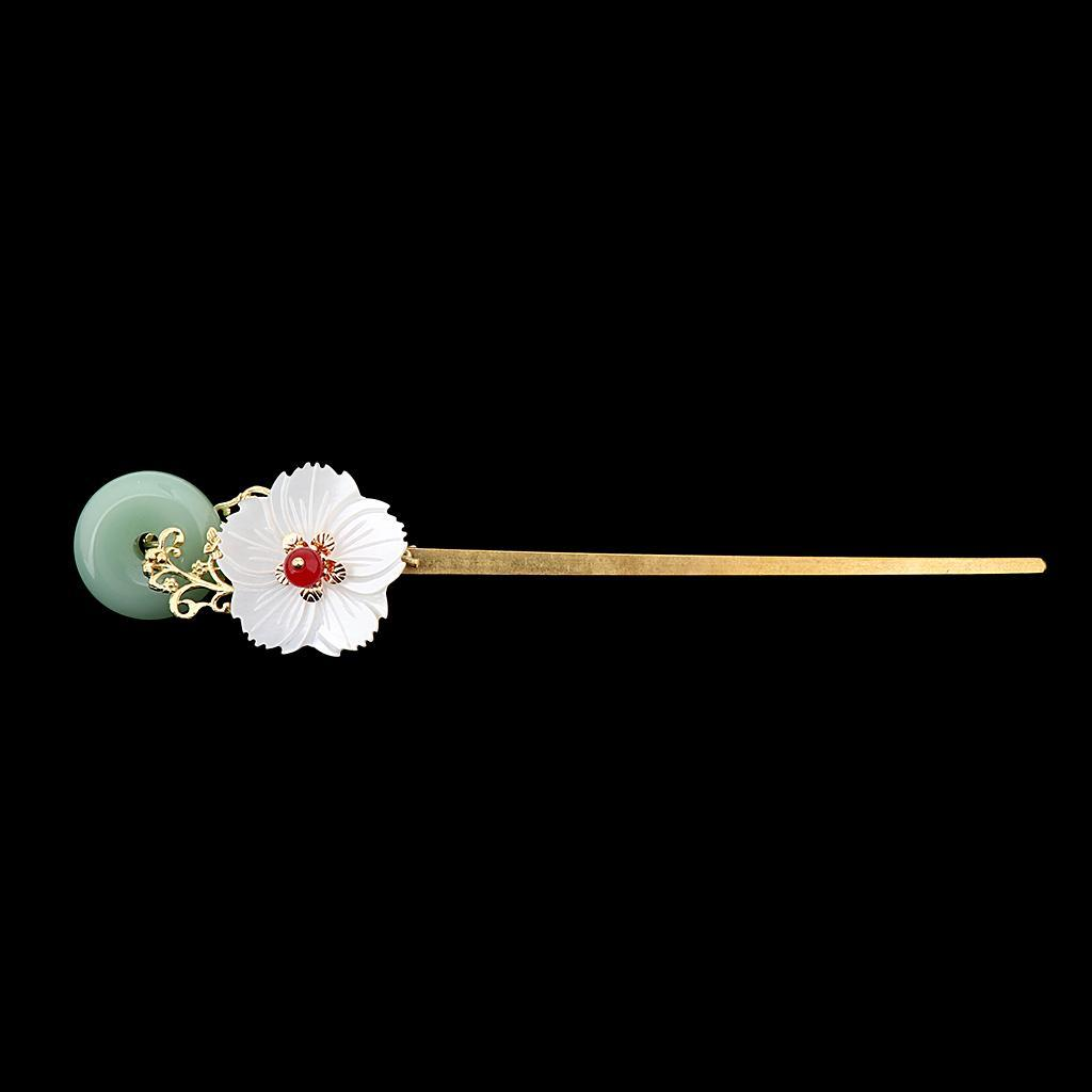 Retro-Floral-Flower-Bead-Hair-Stick-Hairpin-Ancient-Chinese-Japanese-Chignon thumbnail 10