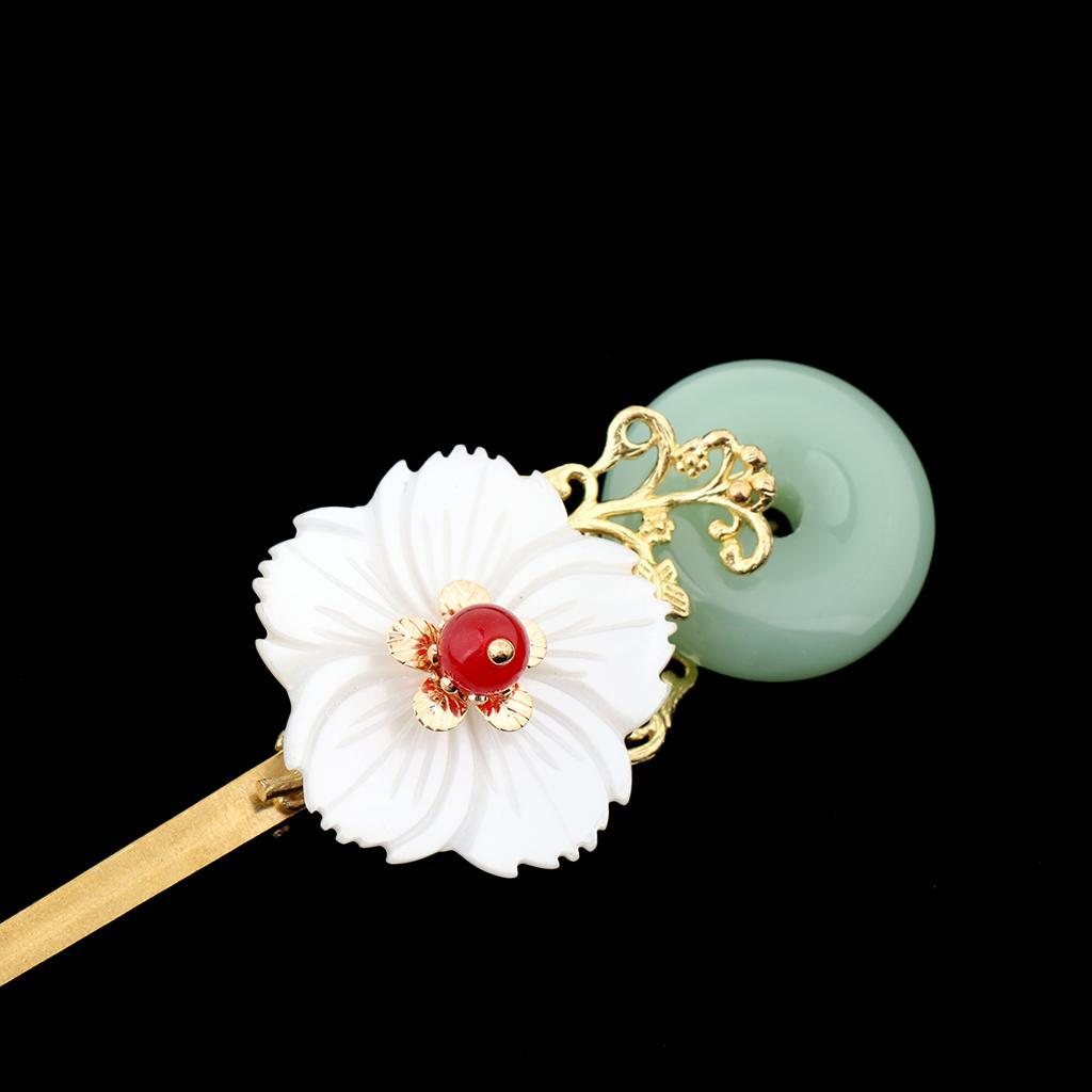 Retro-Floral-Flower-Bead-Hair-Stick-Hairpin-Ancient-Chinese-Japanese-Chignon thumbnail 11