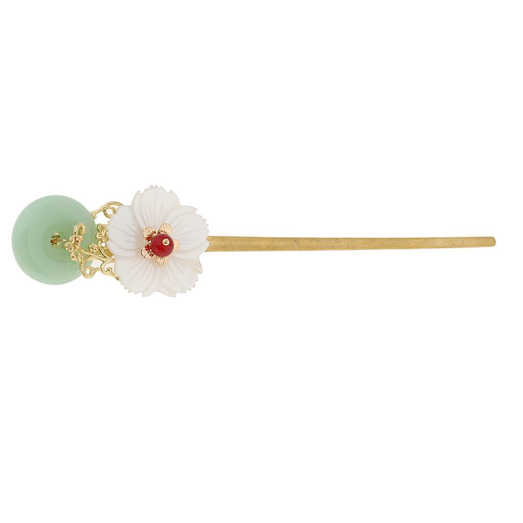Retro-Floral-Flower-Bead-Hair-Stick-Hairpin-Ancient-Chinese-Japanese-Chignon thumbnail 8