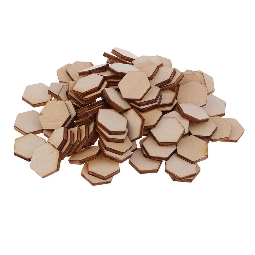 Indexbild 24 - 50-100-200-Stueck-Charming-Hexagon-Shaped-MDF-Holz-Schnitt-Holz