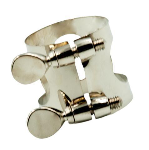 Soprano-Alto-Tenor-Saxophone-Silver-Clamp-Ligature-for-Sax-Mouthpiece-Parts thumbnail 6
