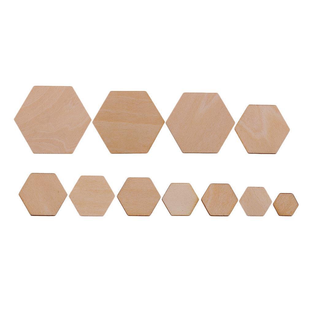 Indexbild 4 - 50-100-200-Stueck-Charming-Hexagon-Shaped-MDF-Holz-Schnitt-Holz
