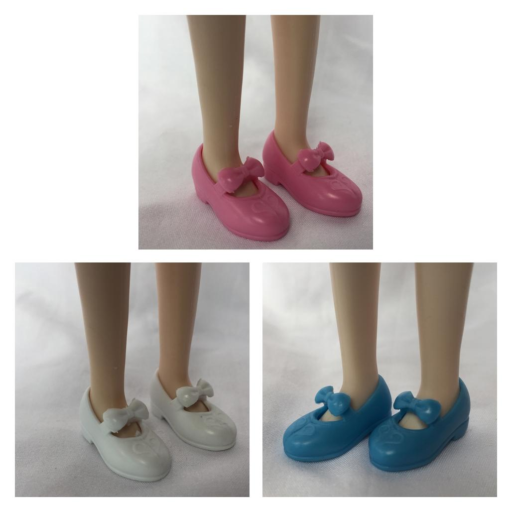 3 Pairs Doll Sandal Block High-heeled Shoes for 1:6 Blythe Azone Licca Dolls