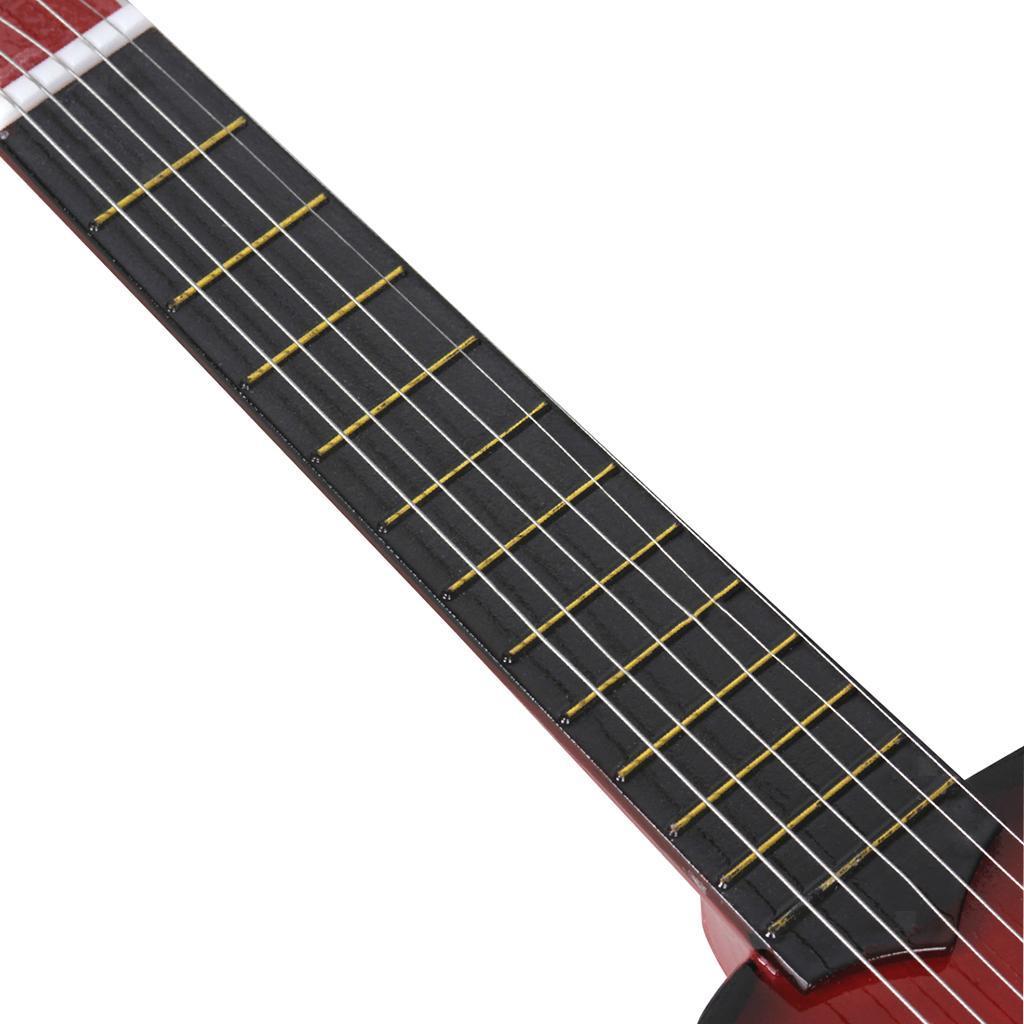 Legno-massello-lucido-21-pollici-6-String-chitarra-MINI-CHITARRA-ACUSTICA-giocattoli-Set miniatura 16