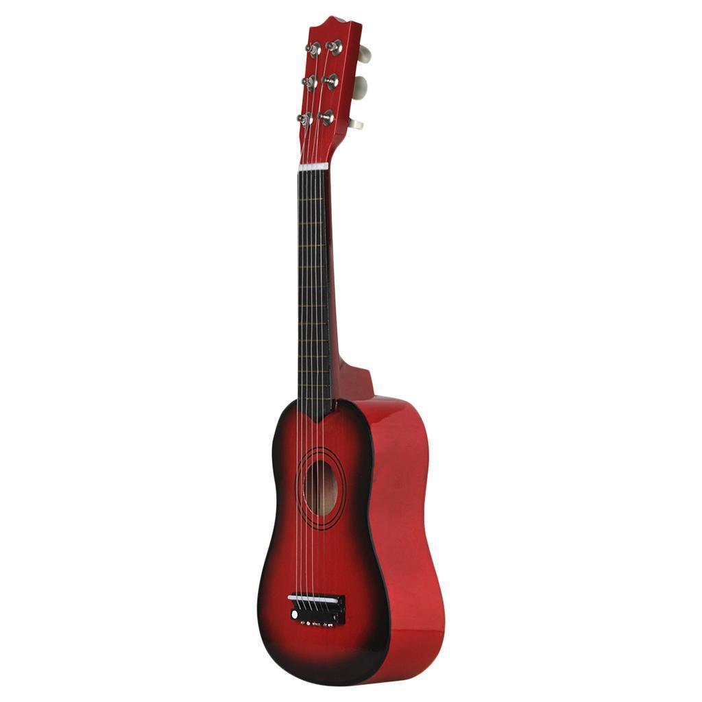 Legno-massello-lucido-21-pollici-6-String-chitarra-MINI-CHITARRA-ACUSTICA-giocattoli-Set miniatura 15