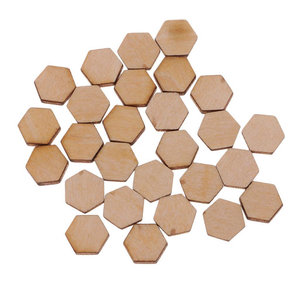 Indexbild 31 - 50-100-200-Stueck-Charming-Hexagon-Shaped-MDF-Holz-Schnitt-Holz