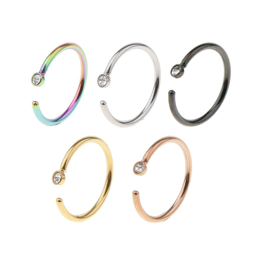 5x-Pairs-Piercing-Earrings-Nose-Ring-Piercing-Jewelry-Ornamenti-per-il-corpo miniatura 4