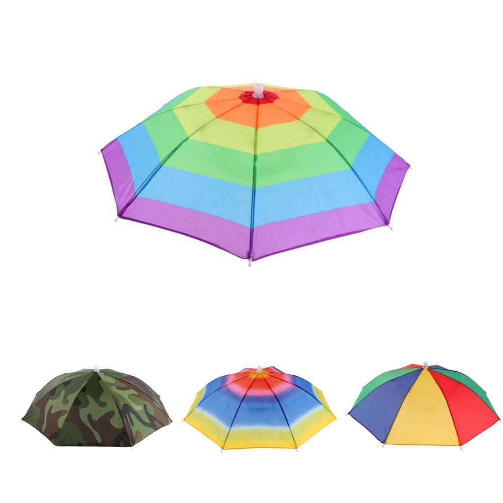 6dcca4320a602 Details about Kids Foldable Headwear Sun Umbrella Hat Cap Hands Free Fishing  Hiking Beach
