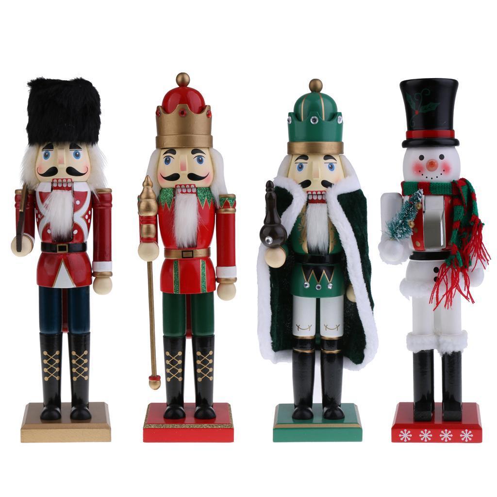 15\'\' Wooden Nutcracker Handcraft Walnut Puppet Toy Christmas ...