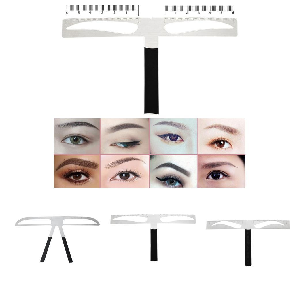3 Points Eyebrow Stencil Shaping Eye Brow Tattoo Template Shaper Reusable